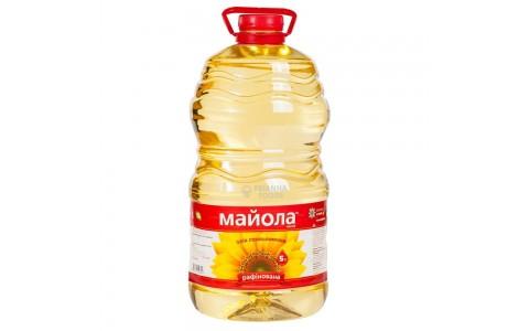 """Олія соняшникова рафінована 5л   ТМ """"Майола"""""""