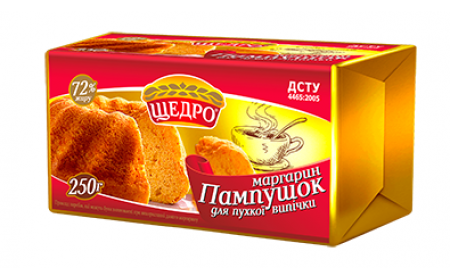Маргарин Пампушок для пишної випічки 72% 250 гр ТМ Щедро