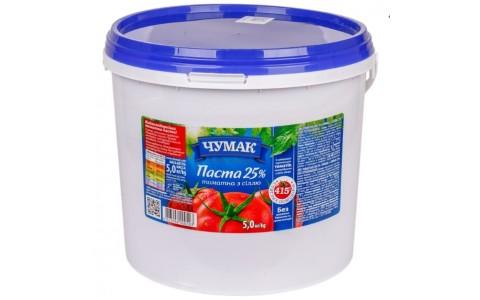 Томатна паста 5кг ТМ Чумак