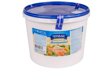 Майонезний соус Апетитний 30%, відро 4,7кг ТМ Чумак